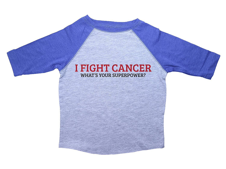 Baffle Cancer Awareness Toddler Tee//I Fight Cancer//Unisex 3//4 Raglan Shirt for Kids