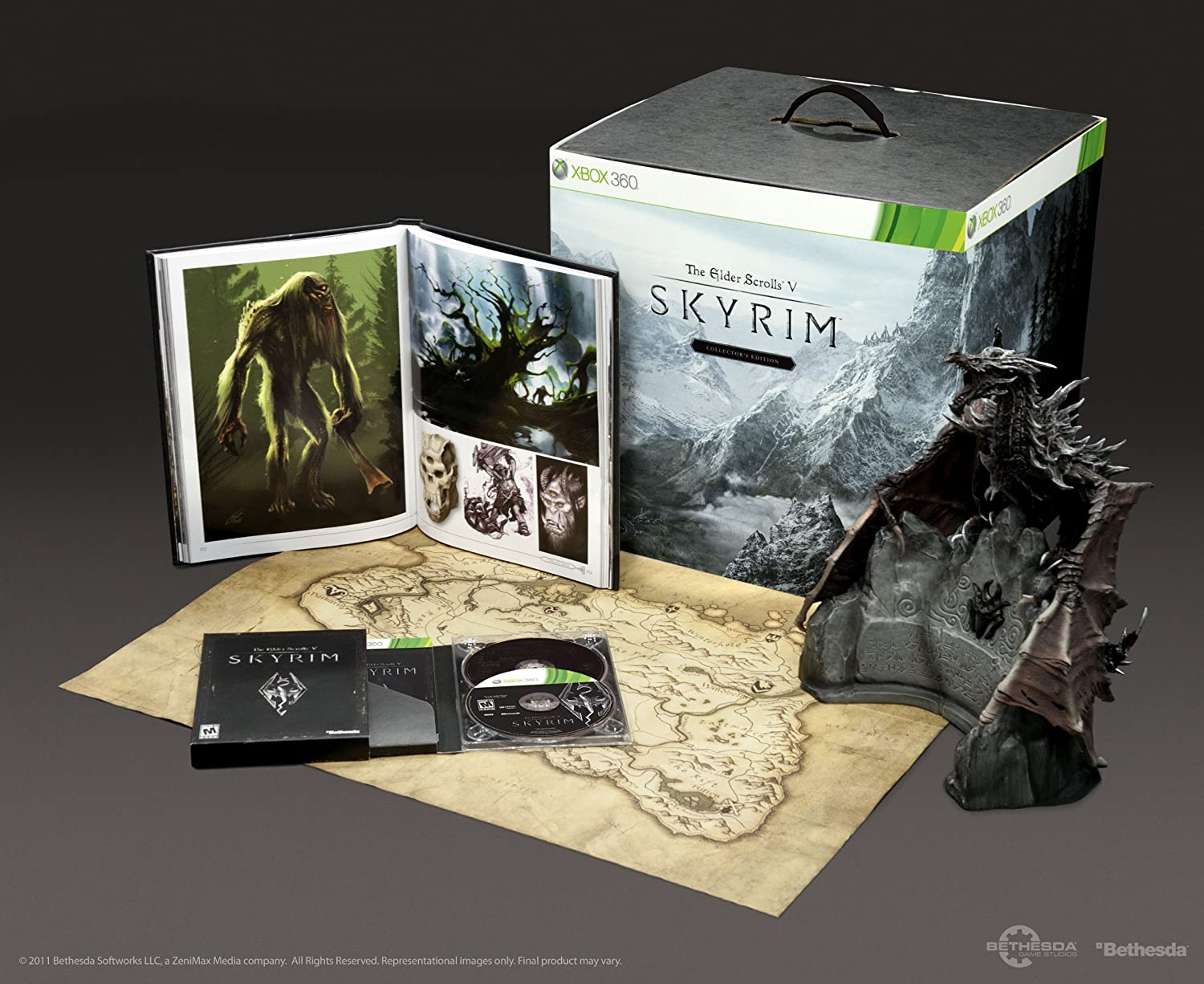 Amazon com: Elder Scrolls V: Skyrim Collector's Edition -Xbox 360