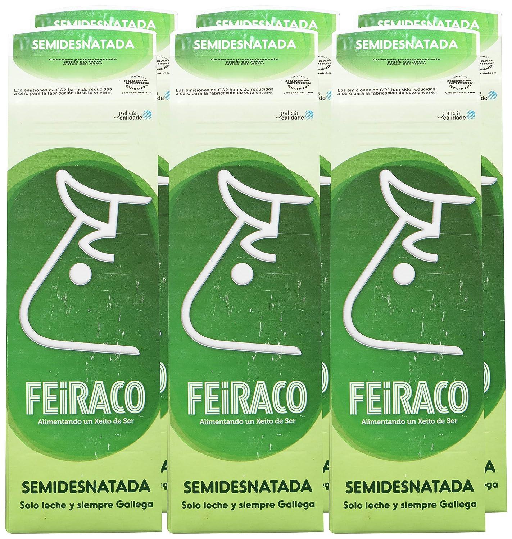 Feiraco Leche UHT Semidesnatada - Paquete de 6 x 1000 ml - Total: 6000 ml: Amazon.es: Amazon Pantry
