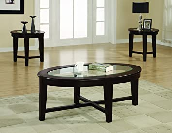 Coaster Home Furnishings 701511 3 Piece Contemporary Living Room Set,  Cappuccino