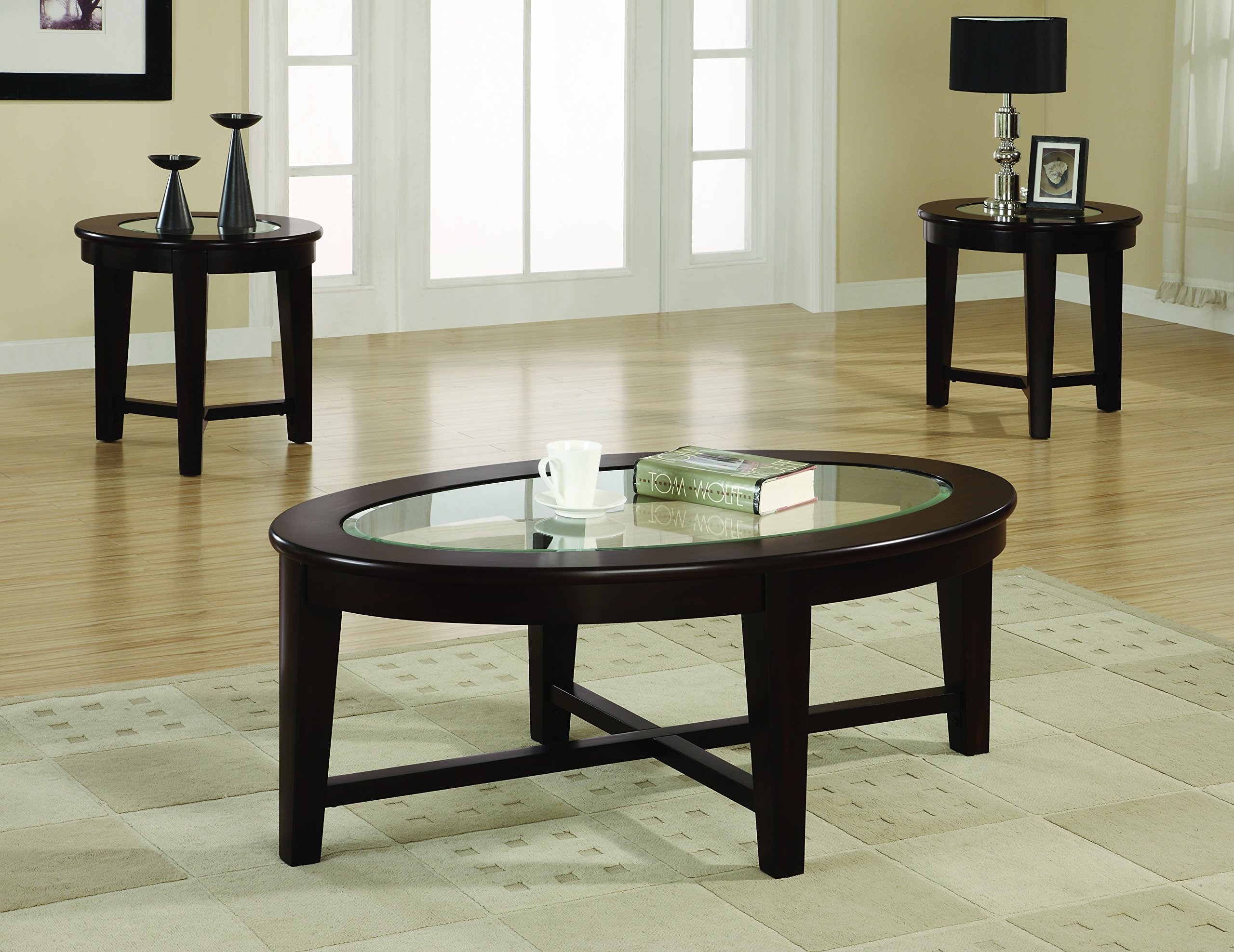 Coaster Home Furnishings 701511 3-Piece Contemporary Living Room Set, Cappuccino