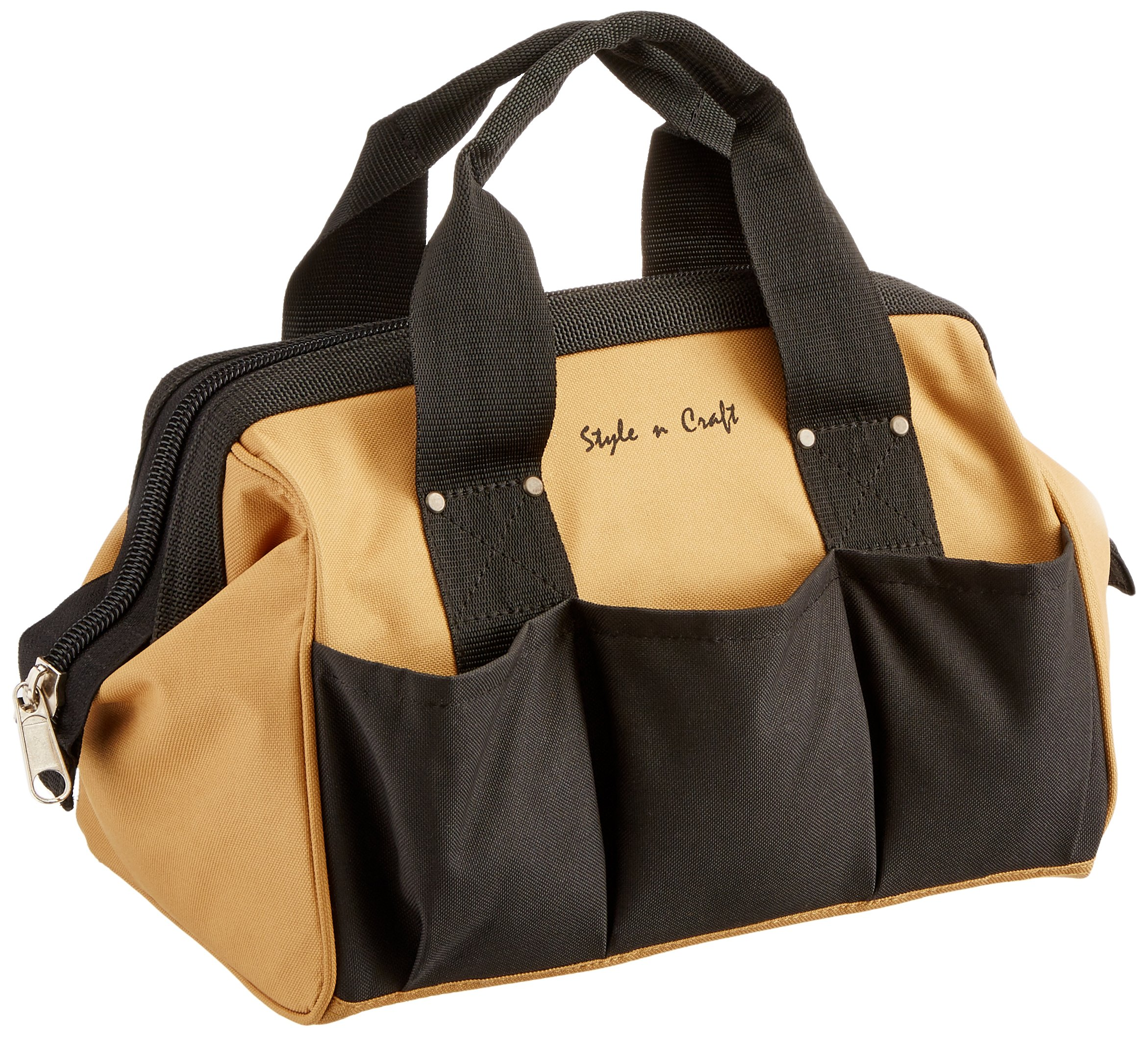Style n Craft 76-510 23 Pocket 12-Inch Tote Bag in Polyester