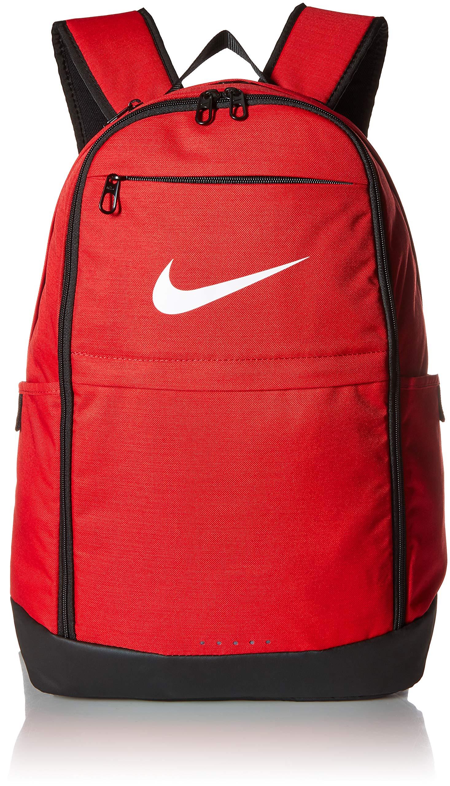 NIKE Brasilia Backpack, University Red/Black/White, X-Large