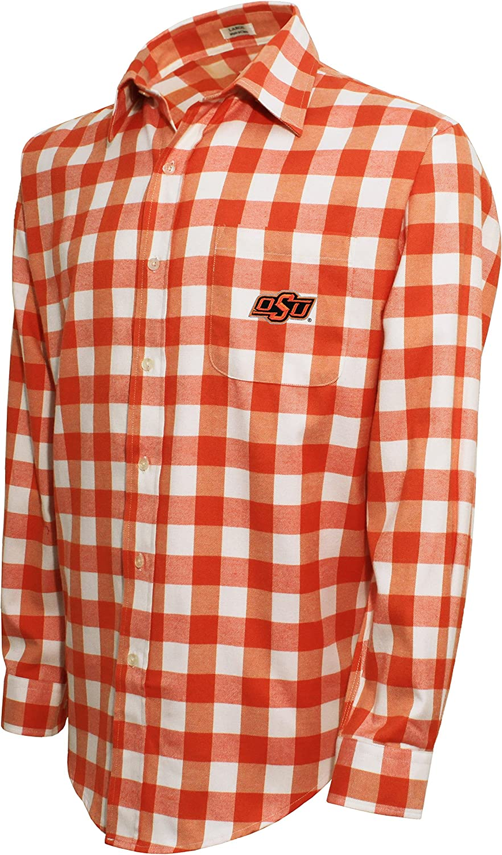 Crable Mens NCAA Campus Specialties Ls Small Check Shirt
