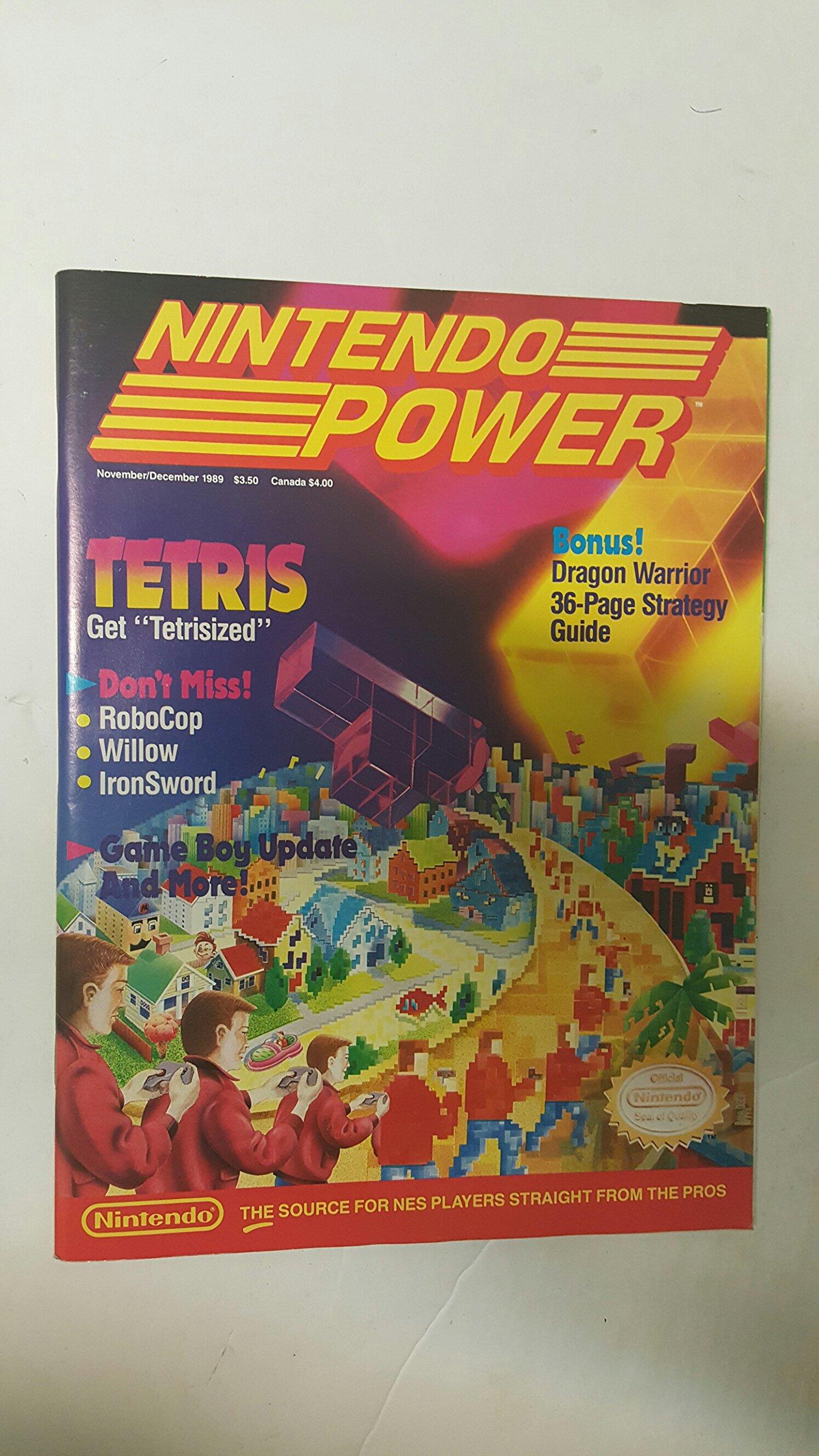 Nintendo Power Iss Nov/Dec 1989 (Vol 9) Tetris NES: by ...
