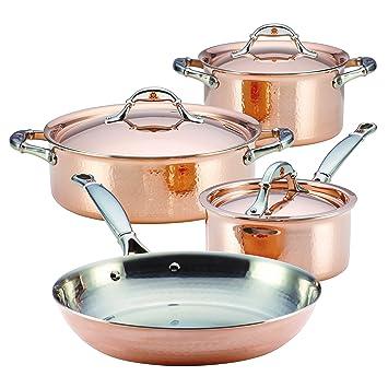 Ruffoni Symphonia Cupra 7 piezas Batería de cocina, cobre: Amazon.es: Hogar