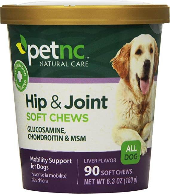 PetNC Natural Care Hip and Joint - Joint Supplements For Dogs with Human-grade Ingredients