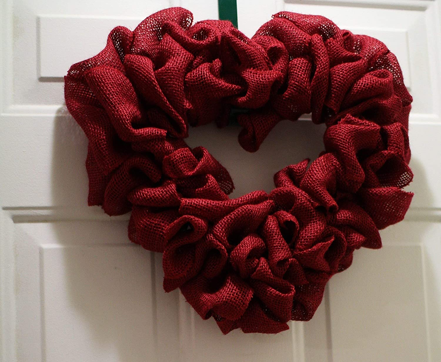 Valentines Day Door Wreath 20 Burlap Red Hearts Full Burlap Wreath Primitive Valentines Day Decor Hearts Decor READY TO SHIP