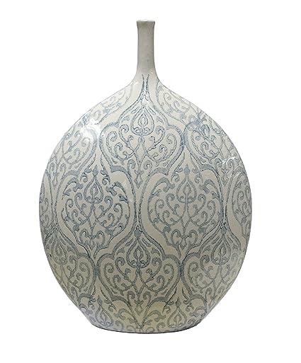 Amazon Sagebrook Home 11372 Ceramic Vase Wvintage Filigree