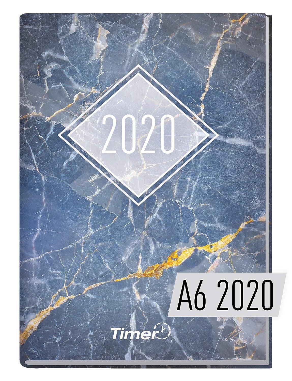 Chäff-Timer - Agenda mini A6, 2020, diseño de mármol y oro ...
