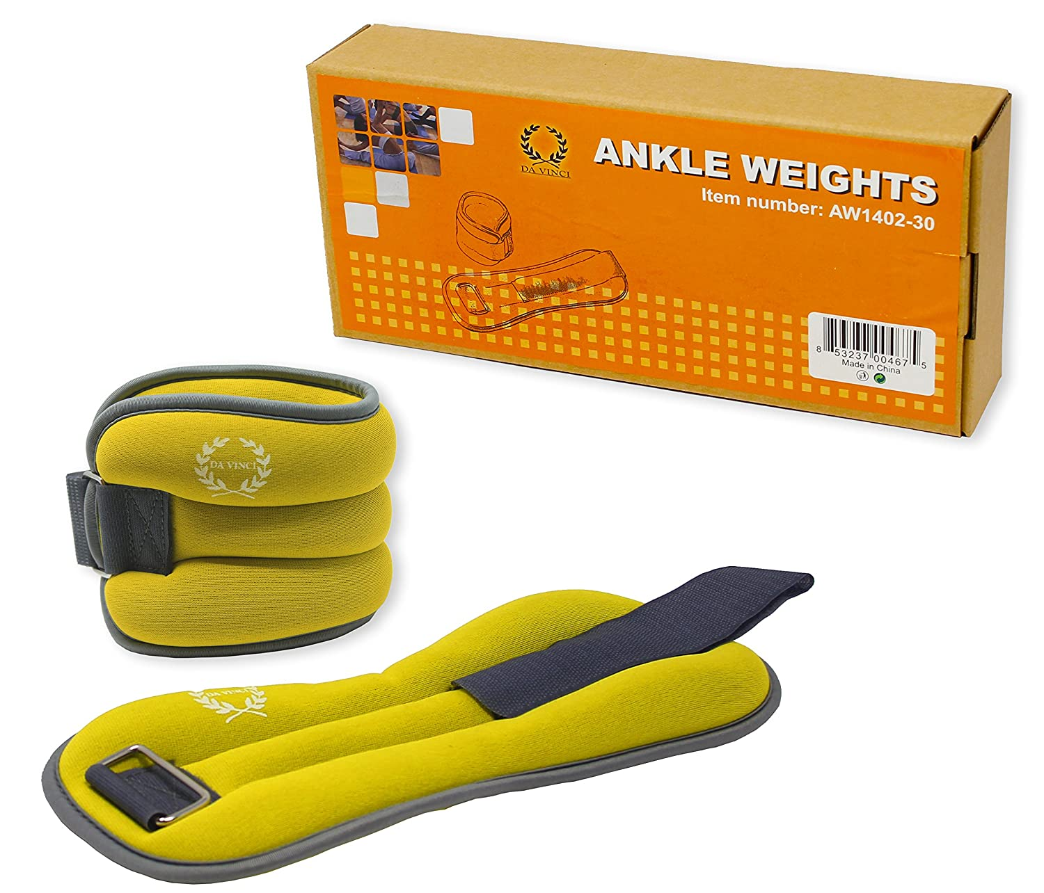 Da Vinci Adjustable Ankle or Wrist Weights Da Vinci Imports 2 to 10 lbs per Set Sold in Pairs of 1 to 5 lbs