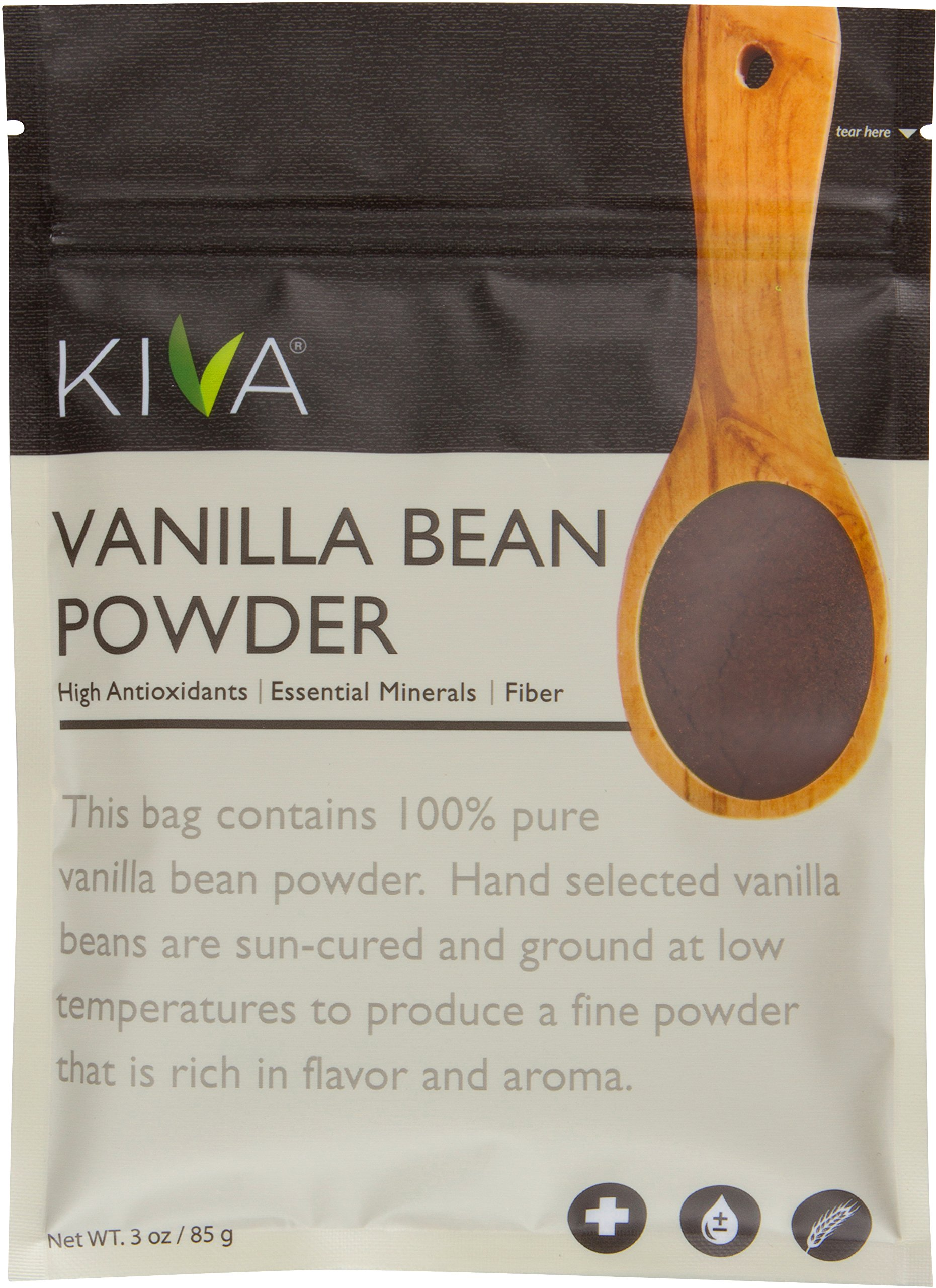Kiva Vanilla Bean Powder, Gourmet Madagascar Bourbon (Pesticide-Free, RAW and Vegan), 3 Ounce by Kiva (Image #1)