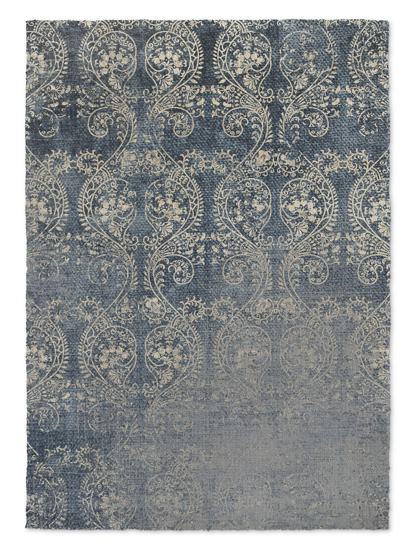 KAVKA Designs Cleo Area Rug, (Blue) - PARISIAN Collection, Size: 5x7x.5 - (TELAVC8222RUG57)