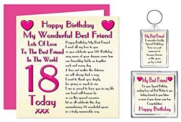 Best Friend 18th Happy Birthday Gift Set