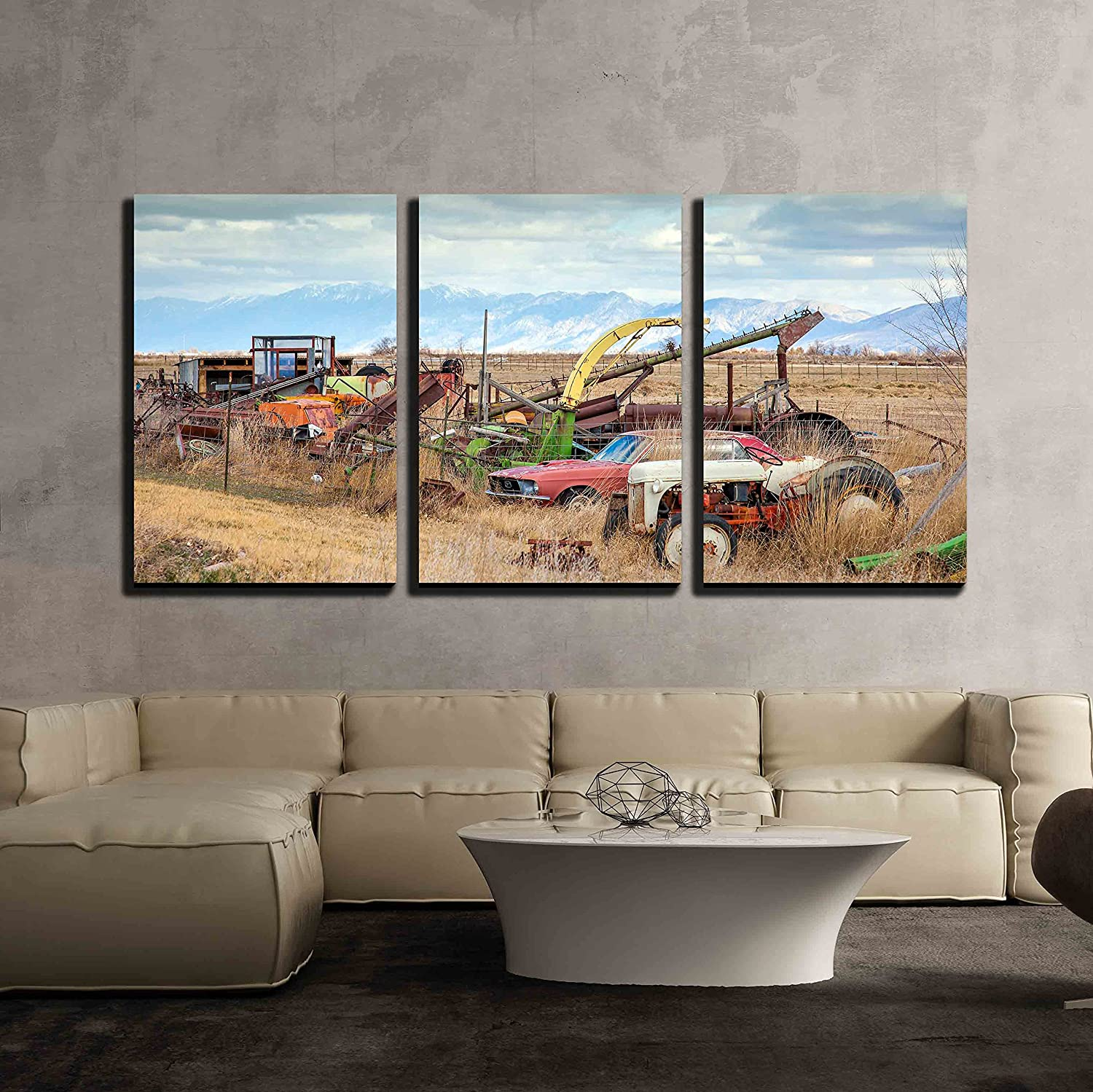 Wall26 art prints framed art canvas prints greeting wall26 3 piece canvas wall art vintage salt lake in salt lake city utah modern home decor stretched and framed ready to hang 24x36x3 panels kristyandbryce Image collections