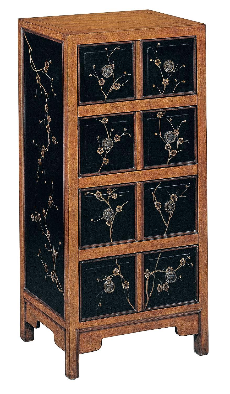 Amazon com stein world furniture niko tall chest black pine floral kitchen dining