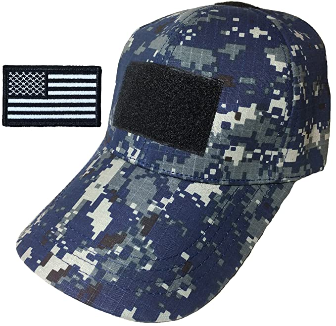 Amazon.com: Ranger Return Tactical Military Digital Navy Blue Army Camo Camouflage Baseball Adjustable Hat Cap with USA Flag Patch ...