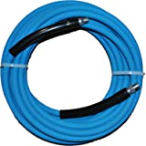 Eaglewash I Wrapped Blue Modified Nitrile Pressure Washer Hose Assembly, 3/8' NPT Male X NPT Male Swivel with Guards…