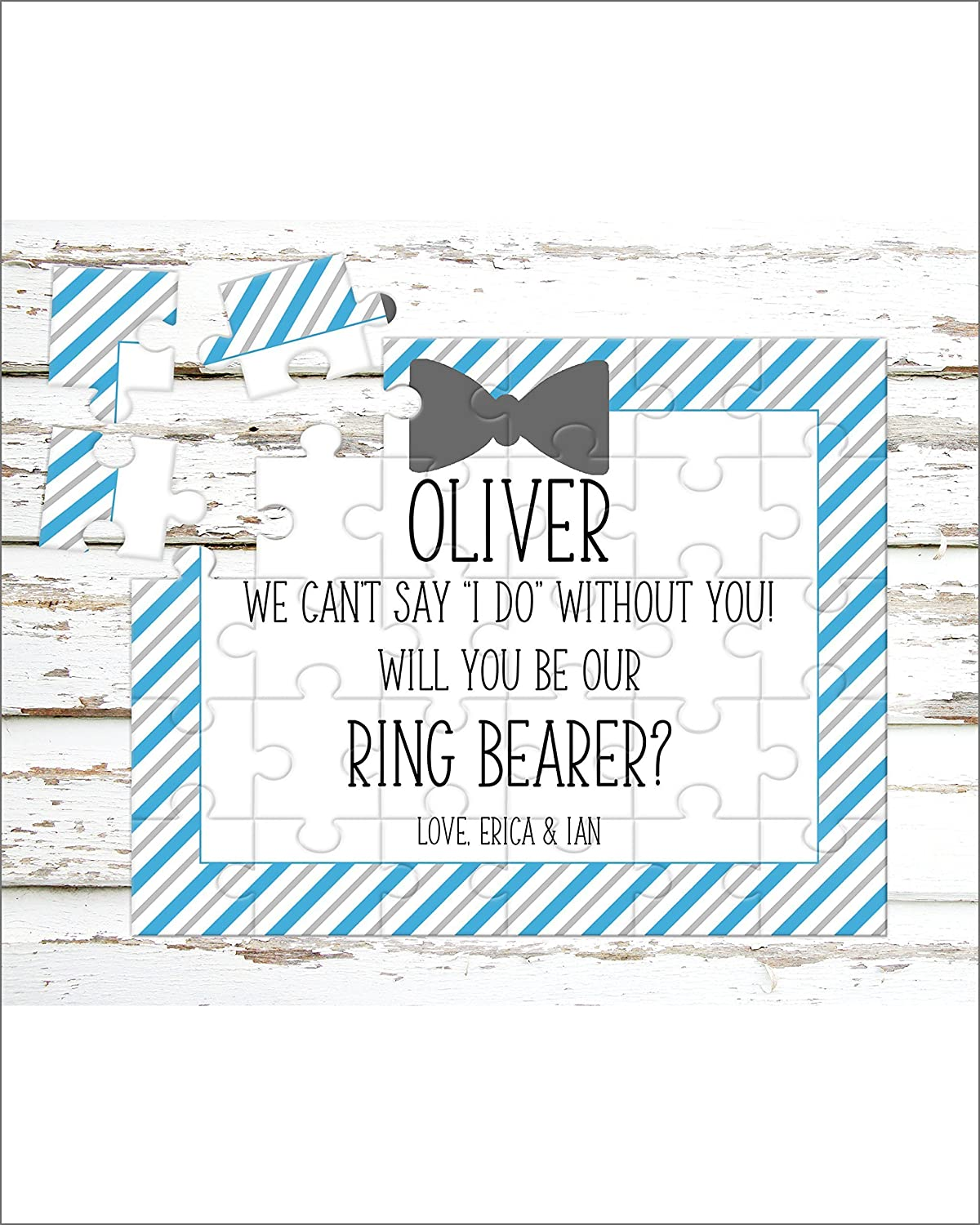 Personalized Ring Bearer Puzzle - Puzzle Proposal - Asking Ring Bearer- Wedding Announcement - P0057