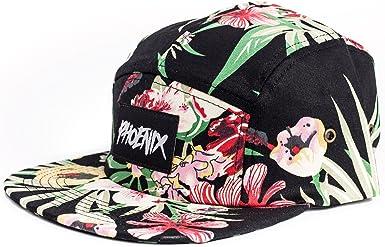 Gorra de béisbol Phoenix de 5 paneles con diseño floral, unisex ...