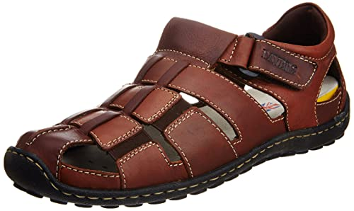 7b918db8497 Pavers England Men s Brown Leather Sandals - 6 UK  Buy Online at Low ...