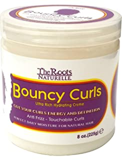The Roots Naturelle Curly Hair Products Bouncy Curls. Moisturizing Anti-frizz Cream for Natural