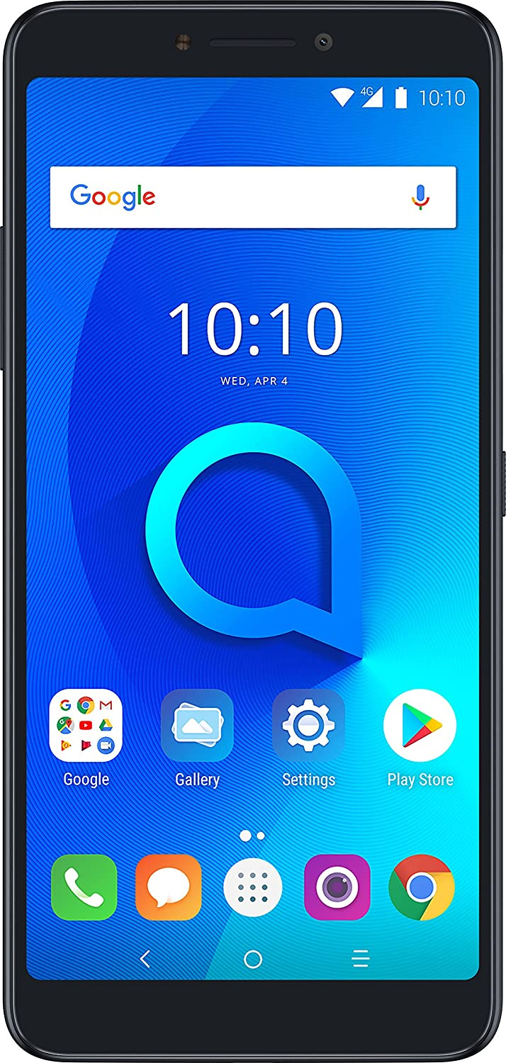 "Alcatel 3V Unlocked Smartphone (AT&T/T-Mobile) - 6"" 18:9 HD Display, 12MP Rear Dual Camera, Android 8.0 Oreo - Spectrum Black (U.S. Warranty) 91cQnOwofJLSL1500_"