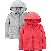 Simple Joys by Carter's 2-Pack Fleece Full Zip Hoodies Niñas