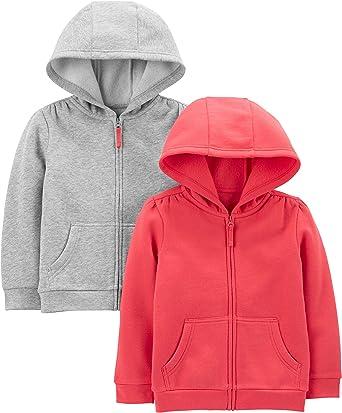 Gray-2T Carters Toddler Zip Fleece Jacket