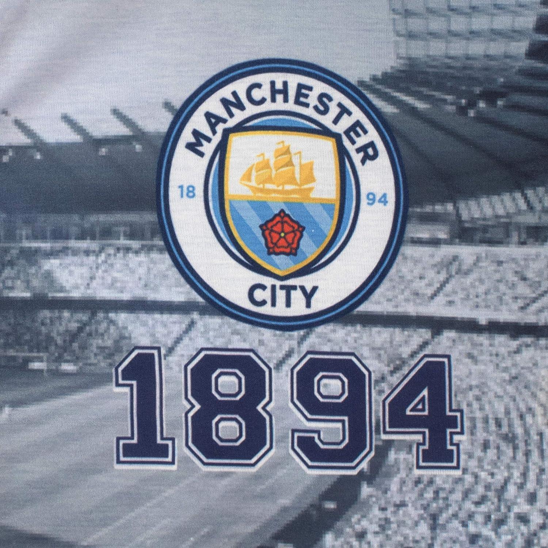 Premier League Pijama Entera para Ni/ños Beb/és Manchester City FC Azul 3-6 Meses