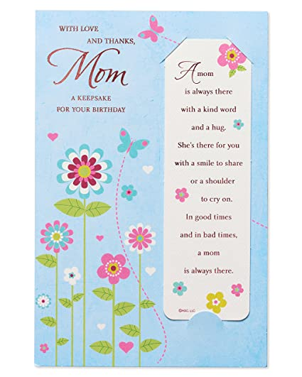 Amazon American Greetings Floral Birthday Card For Mom With