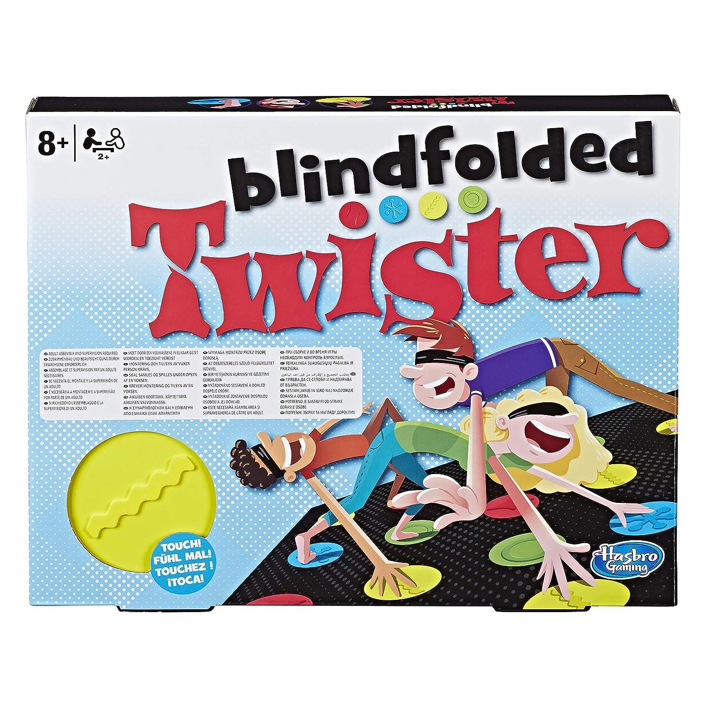 Hasbro gaming Twister Blindfolded Jeu de Société, E1888, Multicolore Spielen / Raten GAMES / General Gry Planszowe