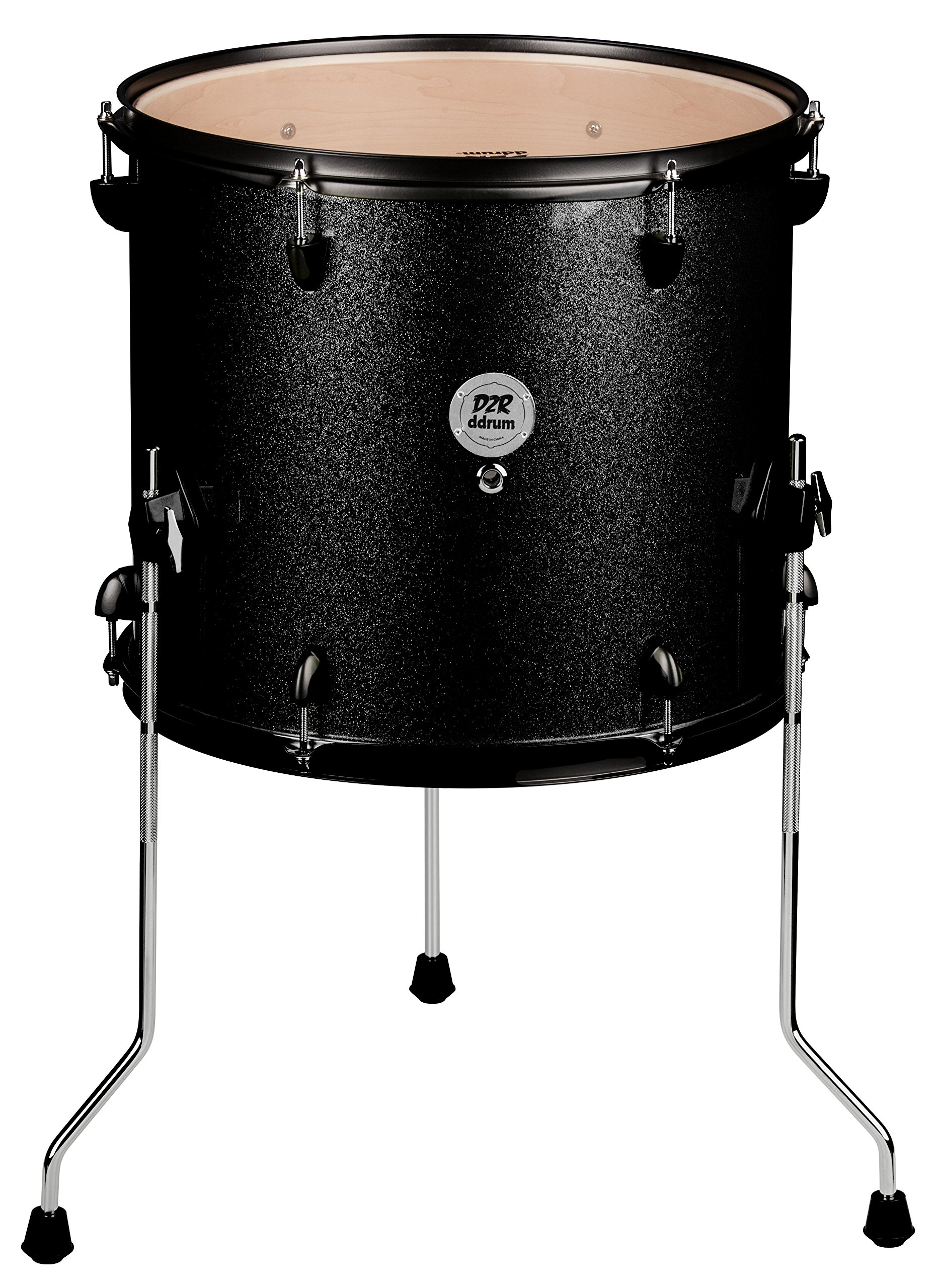 ddrum D2R FT 12X14 BLK SPKL Series Sparkle Floor Tom Drum Set, Black by Ddrum