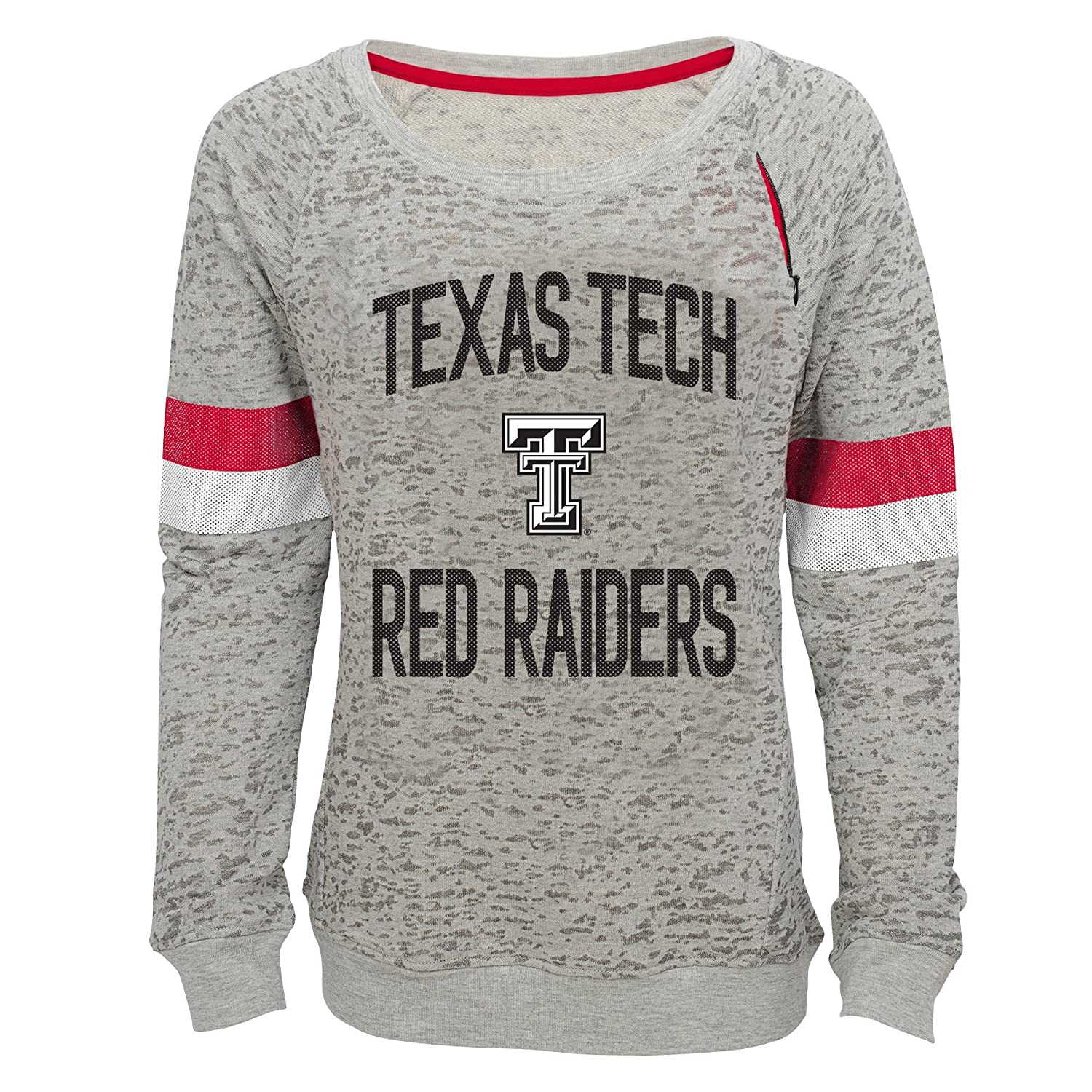 Youth X-Large 16 NCAA by Outerstuff NCAA Texas Tech Red Raiders Youth Girls My City Boat Neck Pullover Heather Grey