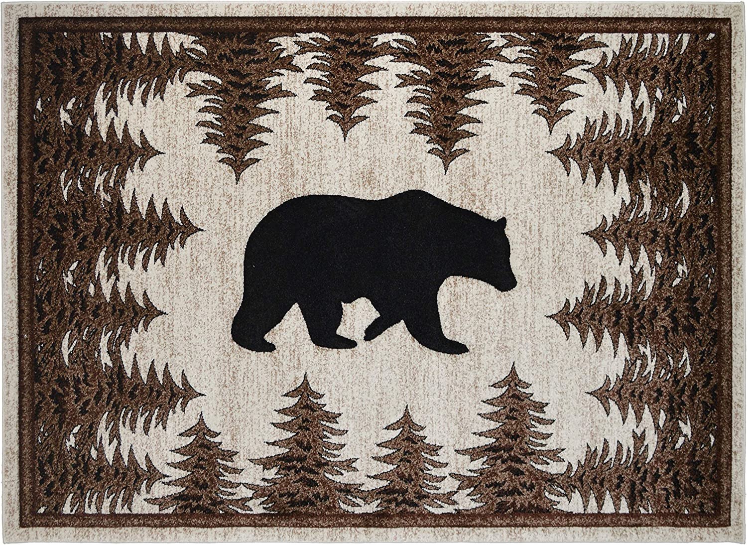 Mayberry Rugs Tranquil Bear Area Rug, 2'3