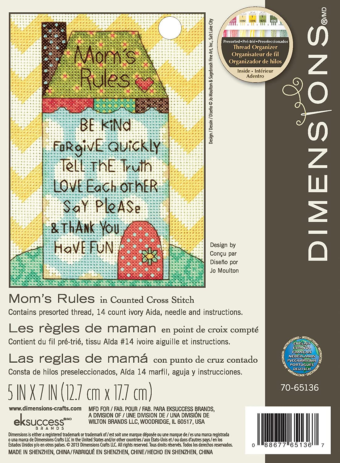 Welcome Each New Day Dimensions 65032 Needlecrafts Counted Cross Stitch