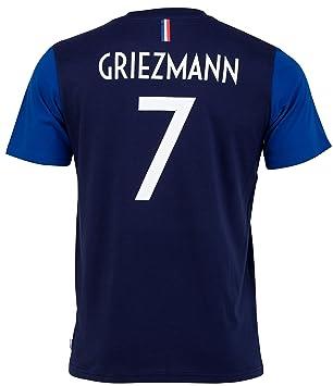 Equipe de FRANCE de football - Camiseta oficial de la selección de Francia de fútbol FFF- Antoine Griezmann - Talla infantil: Amazon.es: Deportes y aire ...