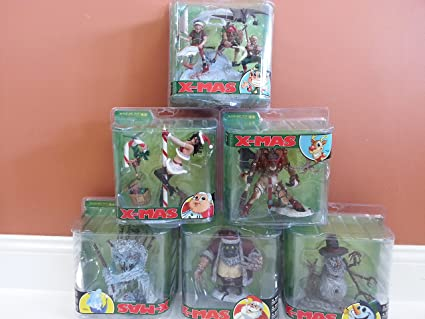 Amazoncom Mcfarlane Monster Series 5 Twisted X Mas Set Of 6 Toys