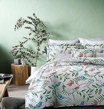 vintage botanical wild flower print duvet quilt cover by envogue cotton percale bedding set colorful