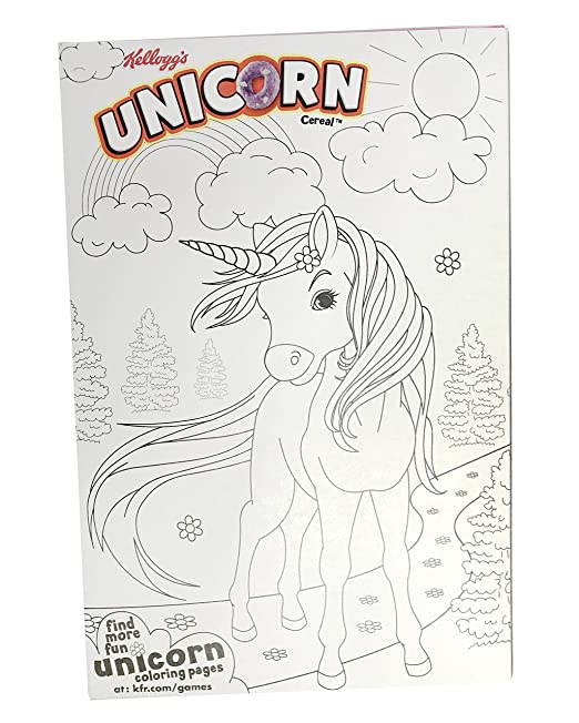 Amazon Limited Edition Kellogg's Unicorn Cereal Two 10 Oz Rhamazon: Kellogg S Unicorn Coloring Pages At Baymontmadison.com