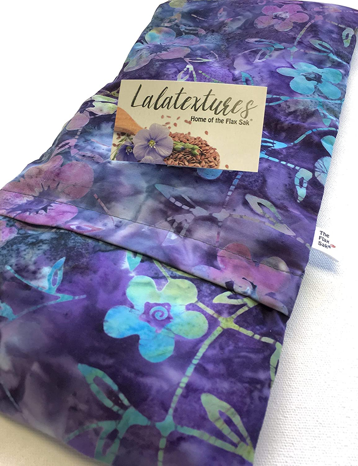 """Large or X Large microwavable flax heating pad, Made in USA, The""""Flax Sak"""" Hot/cold pack with removable/washable cover."""