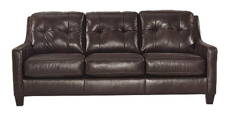 Ashley Furniture Signature Design - O\'Kean Upholstered Leather Sofa -  Contemporary - Mahogany
