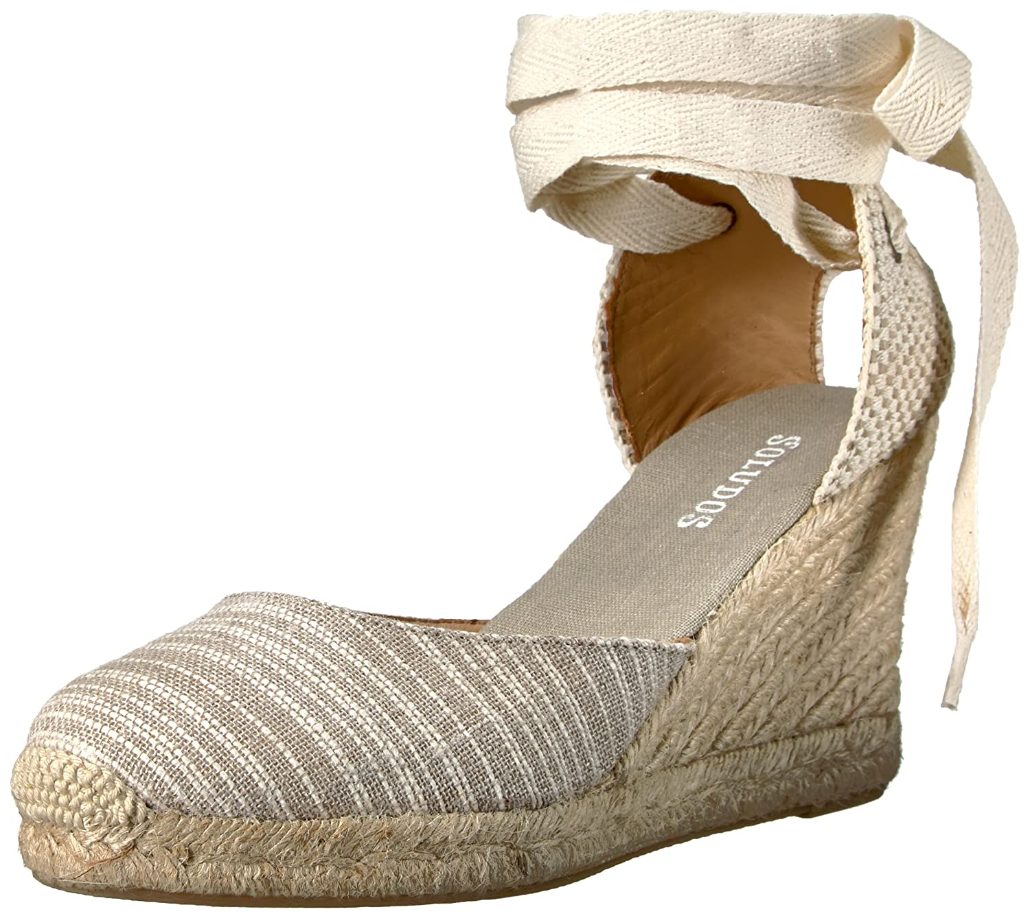 Soludos Women's Striped Tall (90mm) Wedge Sandal B01MZ6FY9V 8.5 B(M) US|Natural