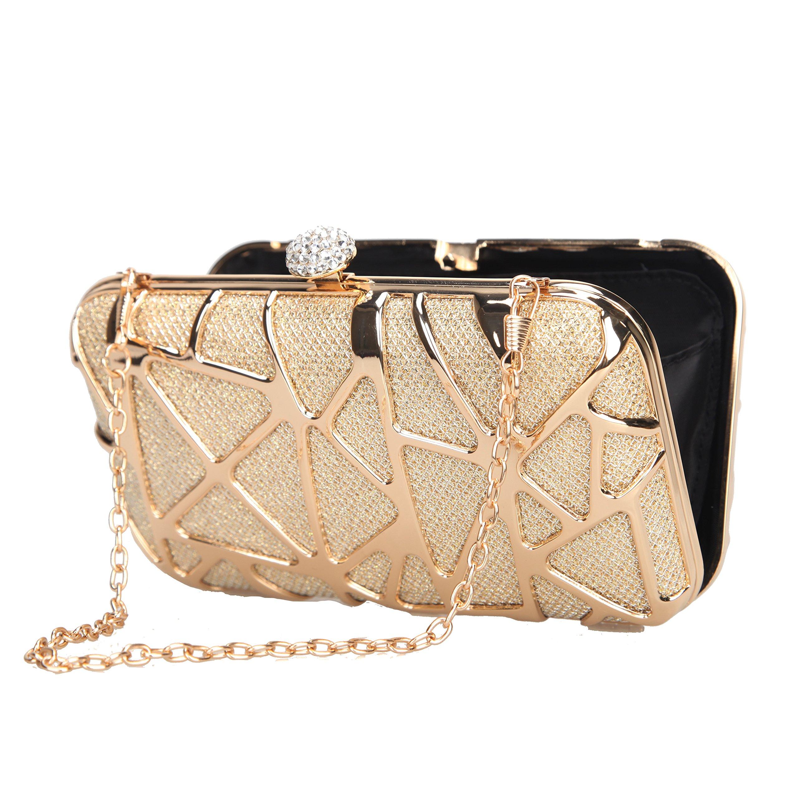 Fawziya Water Cube Mini Glitter Box Purse Fashion Clutch Bags For Women  Evening Bags-Gold - E1417   Departments   Clothing b095cadfdcbe