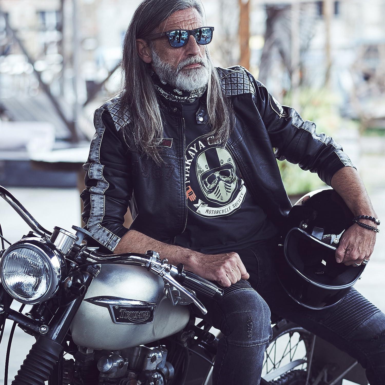 MAKAYA Ropa Motocross Hombre Camiseta Casco Moto Integral con Calavera Skull T-Shirt
