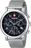 Wenger Urban Classic Chrono Men's Quartz Watch with Black Dial Analogue Display and Silver Stainless Steel Bracelet 011043102