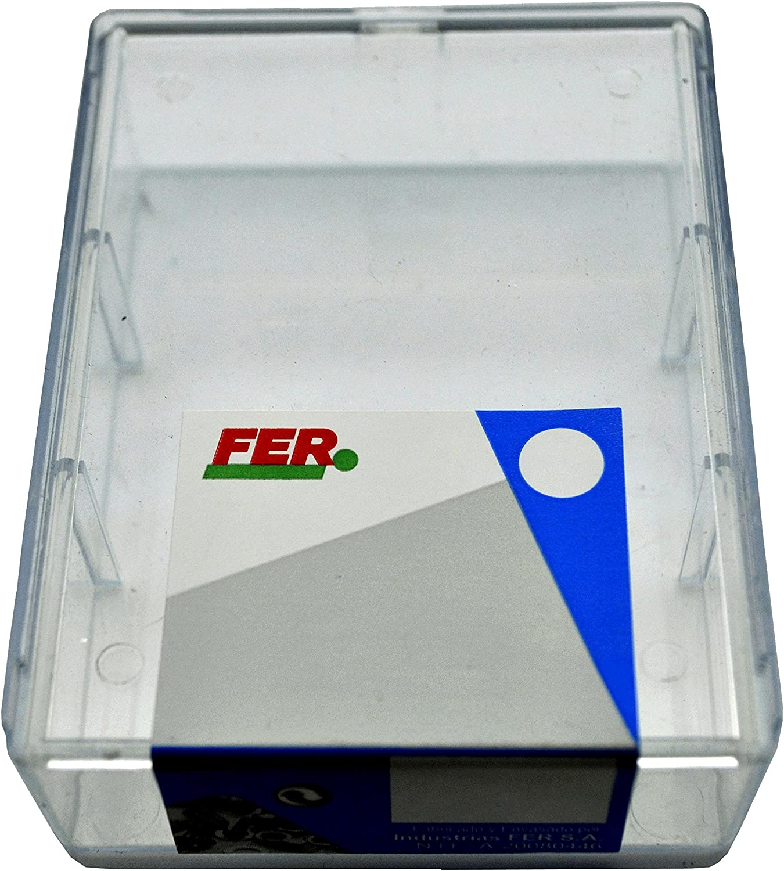 FER 43681 Caja Profesional Pl/ástico Tornillo Autotaladrante Cabeza Plana 4,20x19 Zincado Set de 90 Piezas