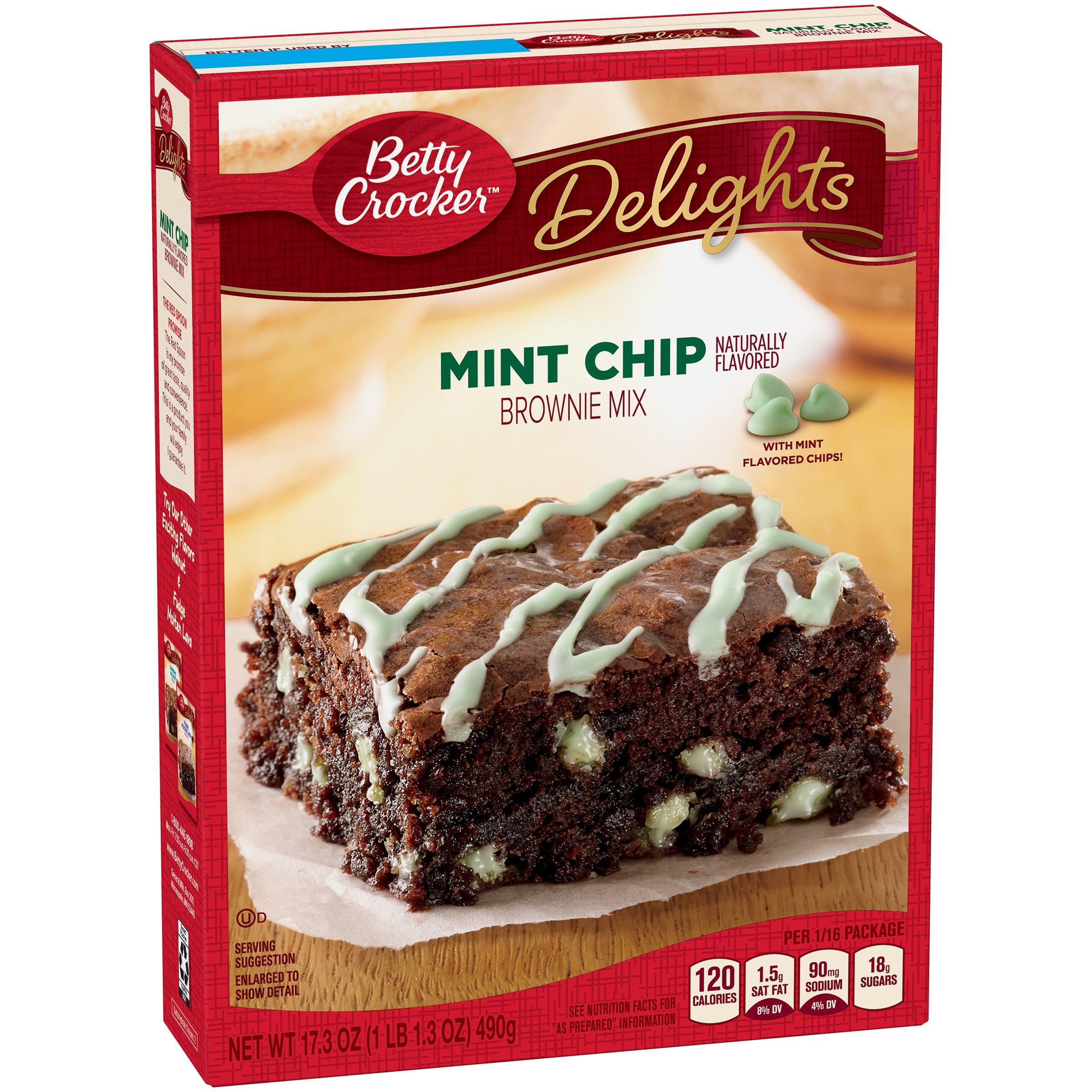 Betty Crocker Delights Mint Chip Brownie Mix 17.3 oz. Box