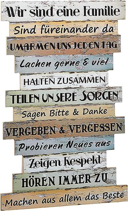 Wandbilder Planken Schilder SprГјchen Familienregeln Wandschild Spruch Regeln