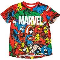 Marvel Comics Core Vengadores sublimado Camiseta de los Muchachos Rojo 5-6 años